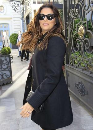 Eva Longoria arrives at an event in Madrid