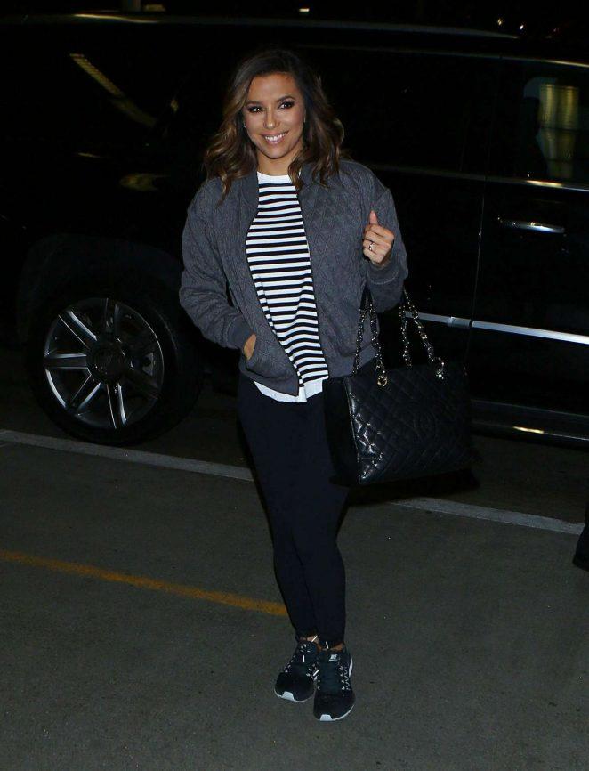 Eva Longoria arrives at LAX Airport -02