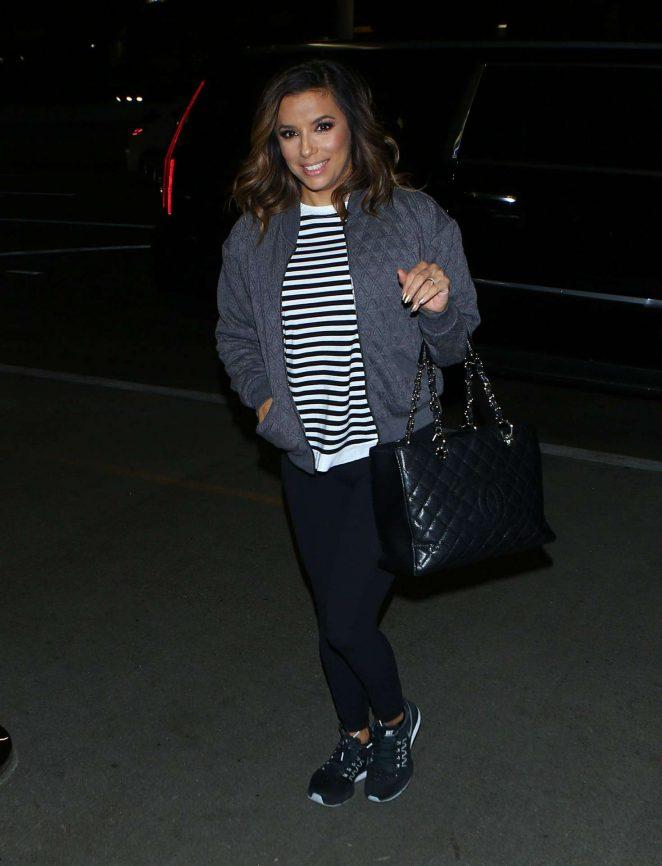 Eva Longoria arrives at LAX Airport -03
