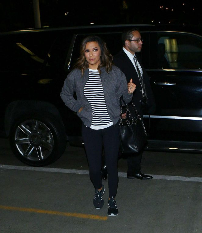 Eva Longoria arrives at LAX Airport -04