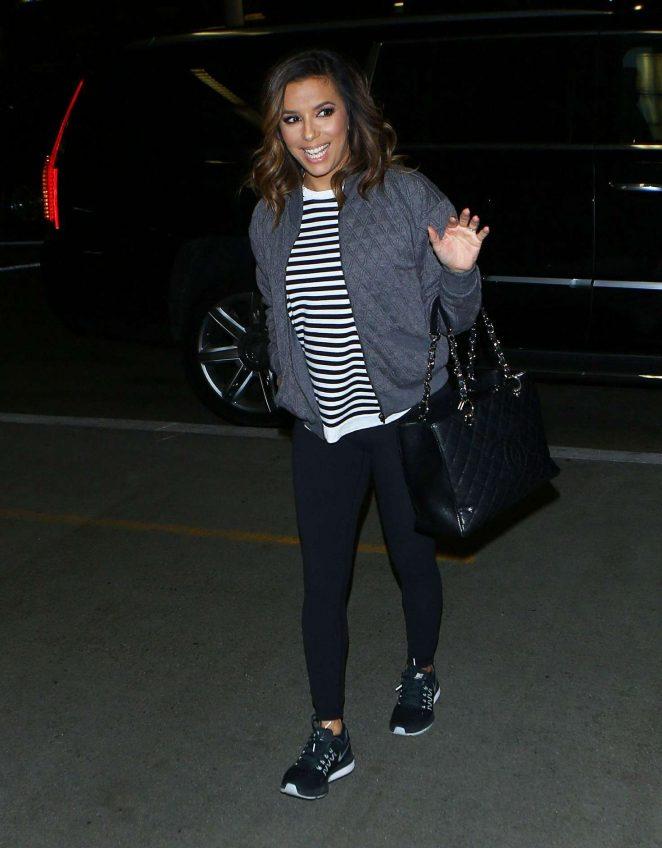 Eva Longoria arrives at LAX Airport -07