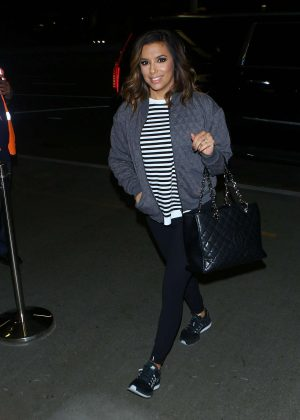 Eva Longoria arrives at LAX Airport in LA