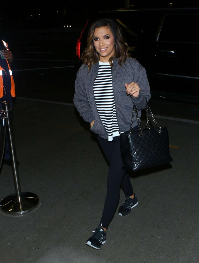 Eva Longoria arrives at LAX Airport in LA