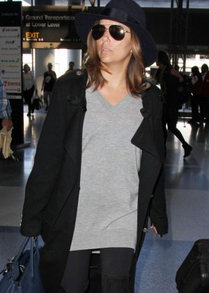 Eva Longoria - Arrives at LAX Airport in Los Angeles