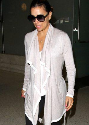 Eva Longoria Arrives at LAX in Los Angeles