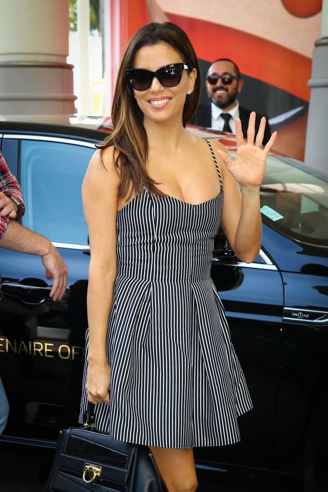 Eva Longoria - Arrives at Martinez Hotel in Cannes