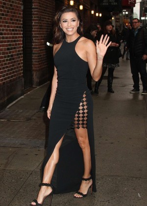 Eva Longoria - Arrives at 'The Late Show with Stephen Colbert' in New York