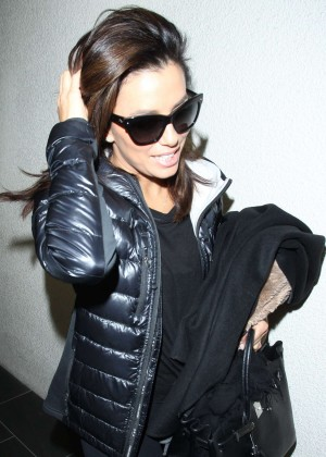 Eva Longoria - Arriving at LAX airport in Los Angeles