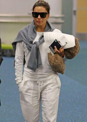 Eva Longoria - Arriving at Vancouver International Airport