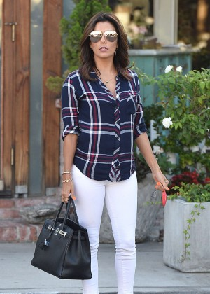 Eva Longoria at Ken Paves Salon in Los Angeles