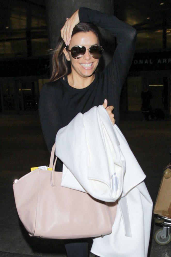 Eva Longoria at LAX Airport in Los Angeles
