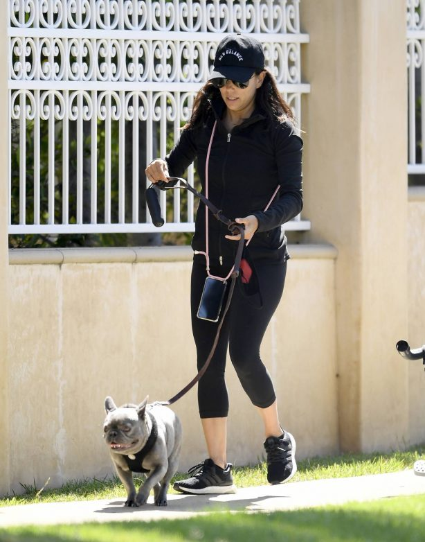 Eva Longoria at the park with her family in Beverly Hills