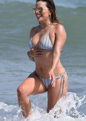 Eva Longoria - Bikini Candids in Marbella