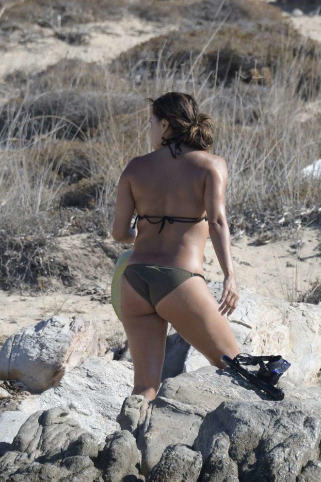 Eva Longoria - Bikini on the beach in Delos in Greece