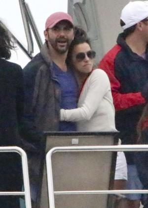 Eva Longoria & boyfriend Jose Baston at Restaurant in Los Cabos