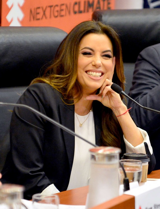 Eva Longoria - Climate Change and Economic Opportunity Panel Discussion in Miami