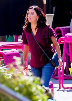 Eva Longoria - Dog Days Set in LA