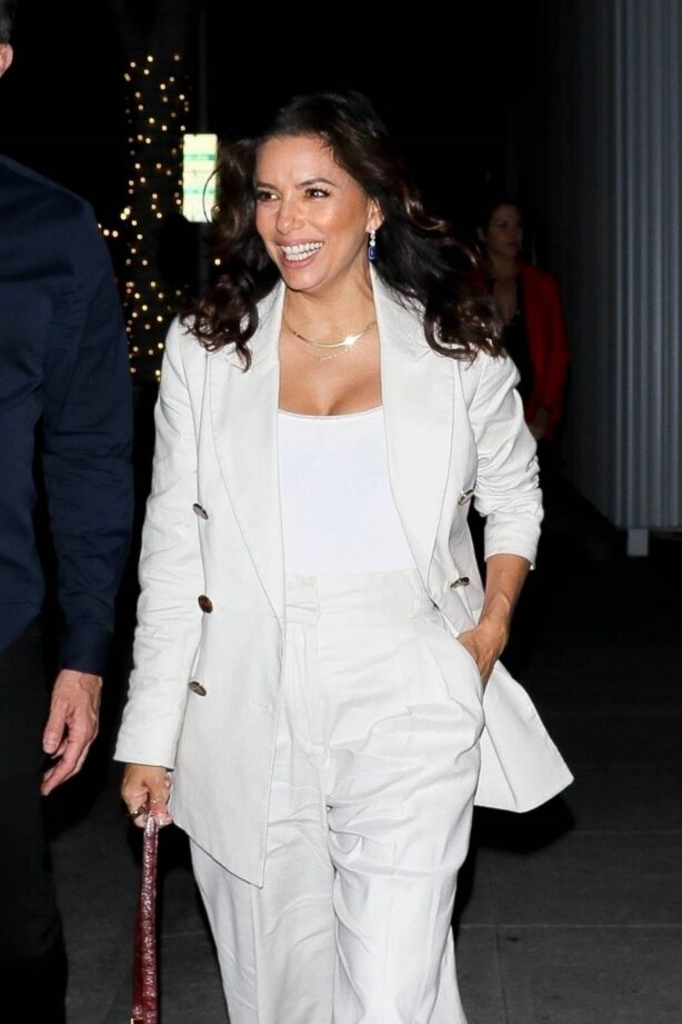 Eva Longoria - in all white as she steps out with friends in Beverly Hills
