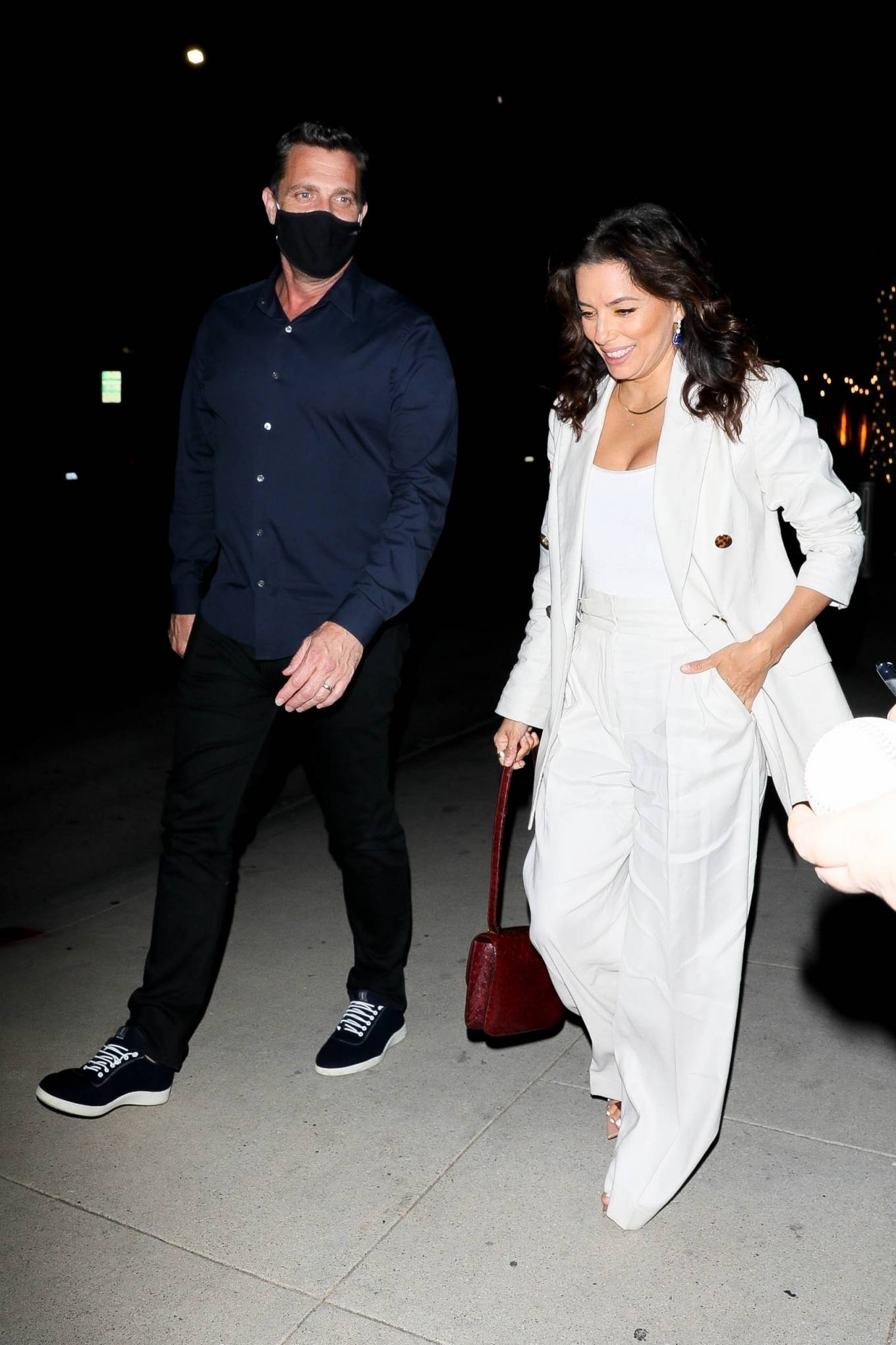 Eva Longoria 2021 : Eva Longoria – in all white as she steps out with friends in Beverly Hills-04