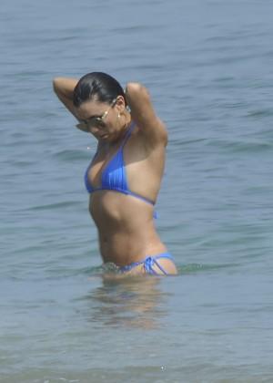 Eva Longoria in Blue Bikini -06