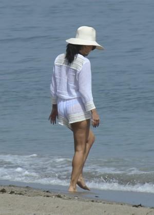 Eva Longoria in Blue Bikini -10