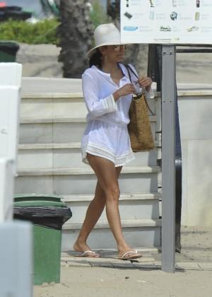 Eva Longoria in Blue Bikini -12