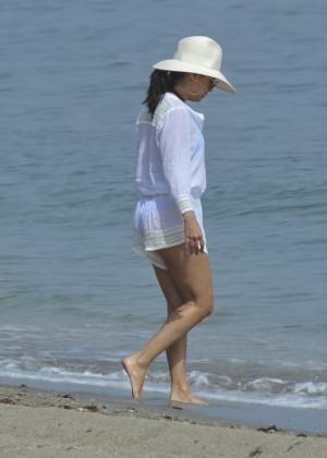 Eva Longoria in Blue Bikini -13