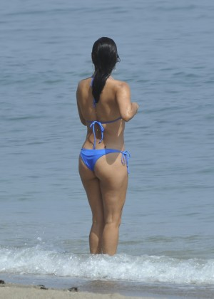 Eva Longoria in Blue Bikini -14