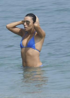 Eva Longoria in Blue Bikini -18