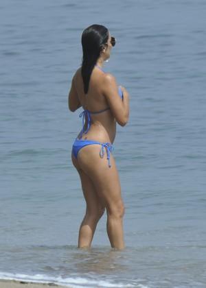 Eva Longoria in Blue Bikini -19