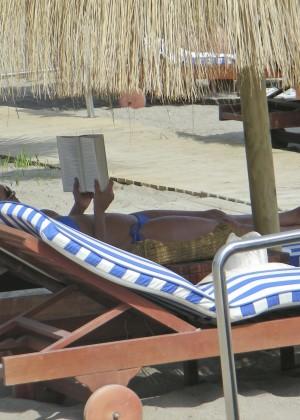 Eva Longoria in Blue Bikini -20
