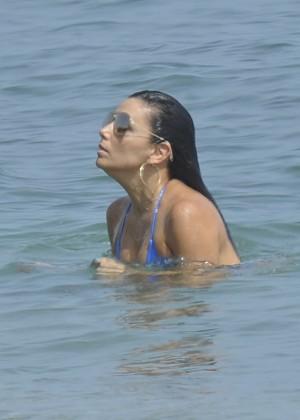 Eva Longoria in Blue Bikini -21