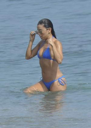 Eva Longoria in Blue Bikini -22