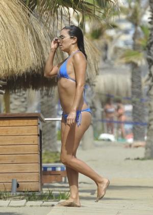 Eva Longoria in Blue Bikini -25