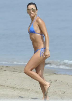 Eva Longoria in Blue Bikini -26