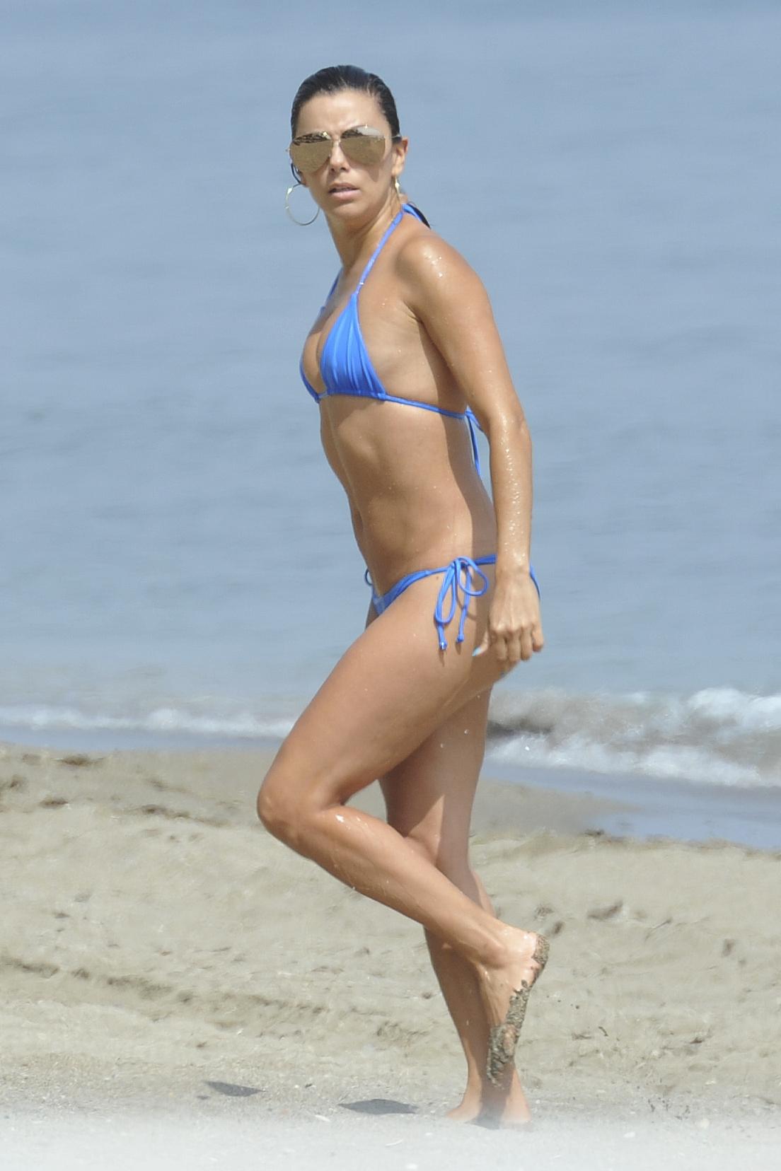 Eva Longoria in Blue Bikini -26 - GotCeleb Eva Longoria 2016