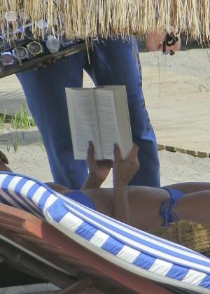 Eva Longoria in Blue Bikini -30