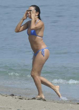 Eva Longoria in Blue Bikini -32
