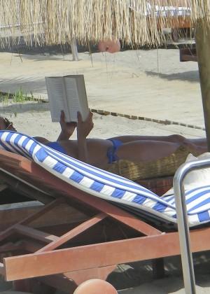 Eva Longoria in Blue Bikini -33