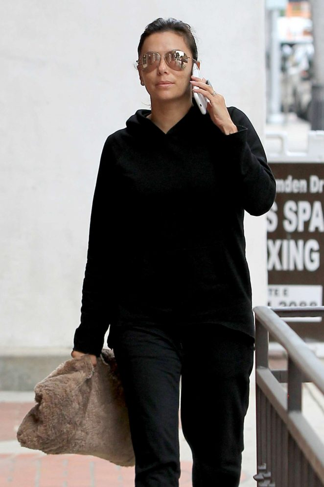 Eva Longoria in Black out in Los Angeles