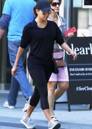 Eva Longoria in Black Tights shopping in Vancouver