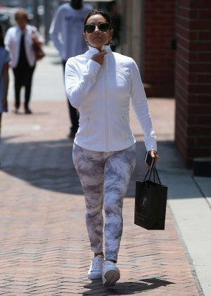 Eva Longoria in Spandex Out in Beverly Hills
