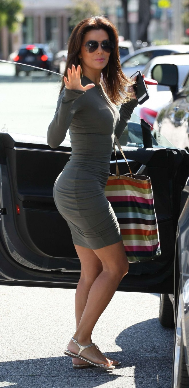 Eva Longoria in Tight Mini Dress -07