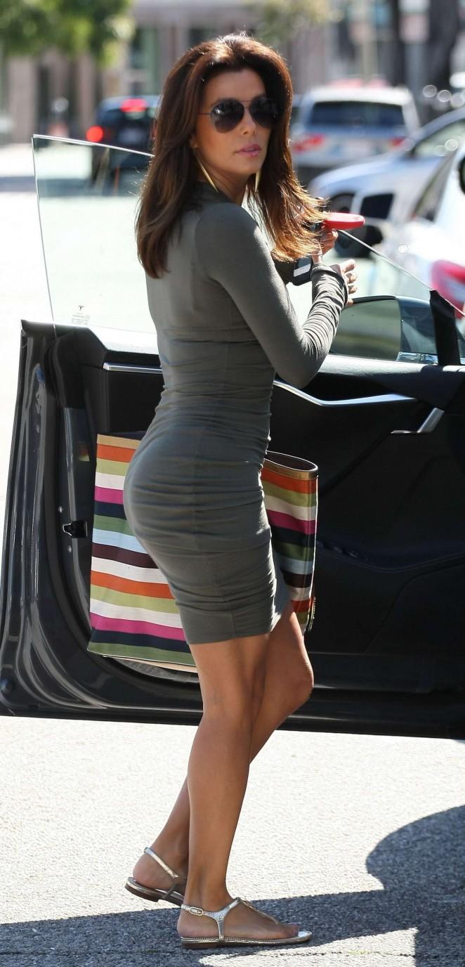 Eva Longoria in Tight Mini Dress -10
