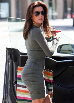 Eva Longoria in Tight Mini Dress out in West Hollywood