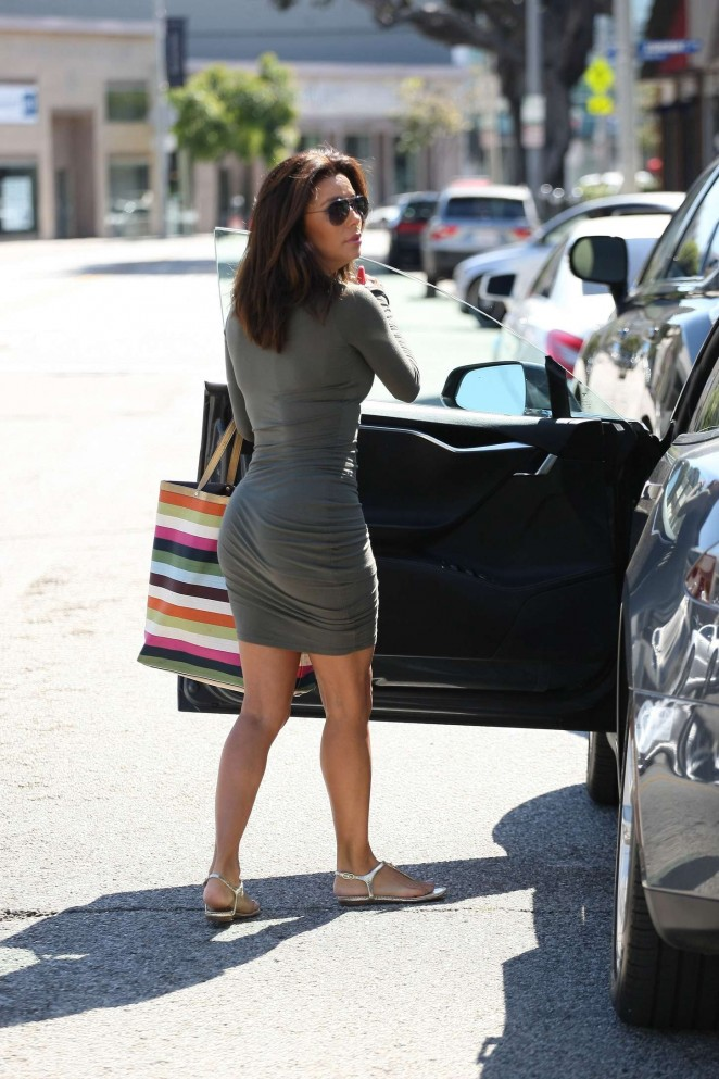 Eva Longoria in Tight Mini Dress -17