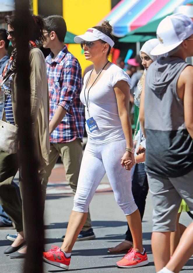 Eva Longoria in Tights at Universal Studio in LA