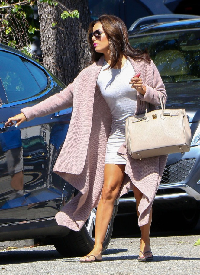 Eva Longoria – Ken Paves Salon in West Hollywood