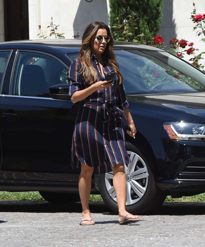 Eva Longoria Leaves a friends house in Los Angeles