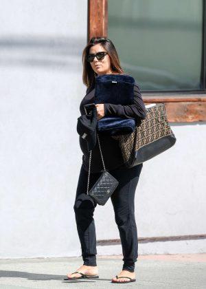Eva Longoria - Leaves a hair salon in LA